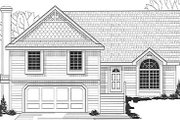 Traditional Style House Plan - 4 Beds 2 Baths 1700 Sq/Ft Plan #67-653 Exterior - Front Elevation