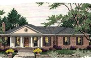 Southern Style House Plan - 3 Beds 2.5 Baths 1854 Sq/Ft Plan #406-283 Exterior - Front Elevation