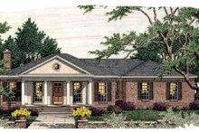 Dream House Plan - Southern Exterior - Front Elevation Plan #406-283