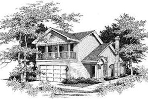 Southern Exterior - Front Elevation Plan #329-107