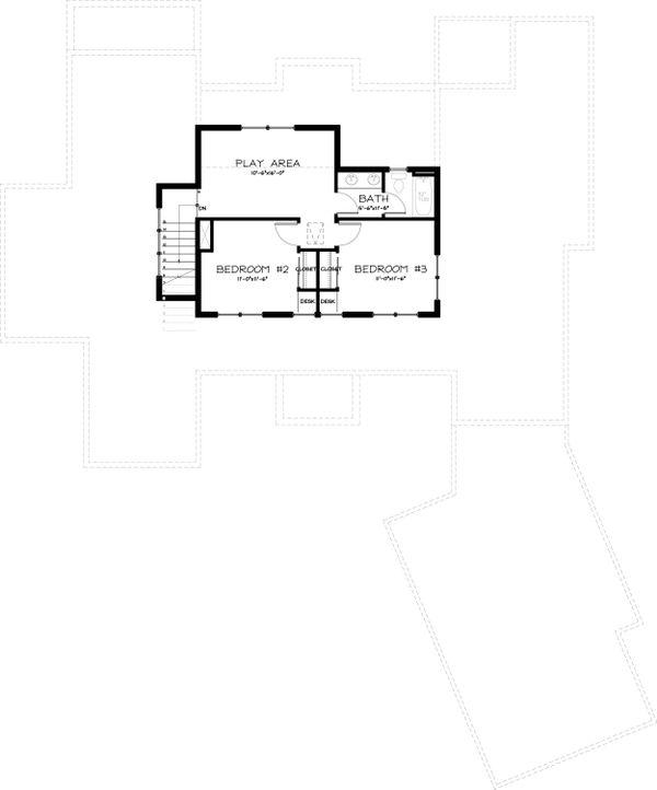 Craftsman Style House Plan - 3 Beds 2.5 Baths 3078 Sq/Ft Plan #895-12 Floor Plan - Upper Floor Plan