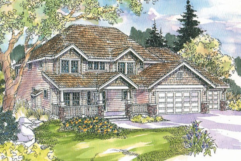 Craftsman Exterior - Front Elevation Plan #124-712