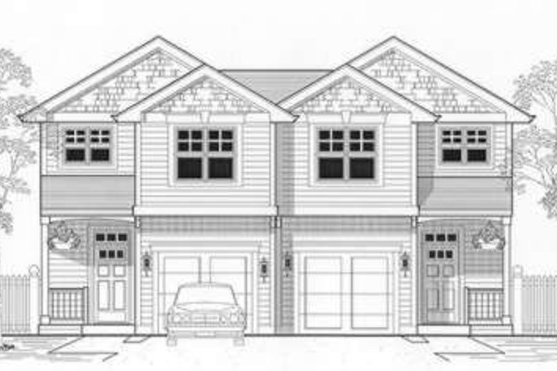 Bungalow Style House Plan - 3 Beds 2.5 Baths 2726 Sq/Ft Plan #53-397 Exterior - Front Elevation