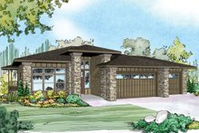 Dream House Plan - Prairie Exterior - Front Elevation Plan #124-924