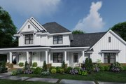 Farmhouse Style House Plan - 4 Beds 3.5 Baths 2829 Sq/Ft Plan #120-266 Exterior - Front Elevation