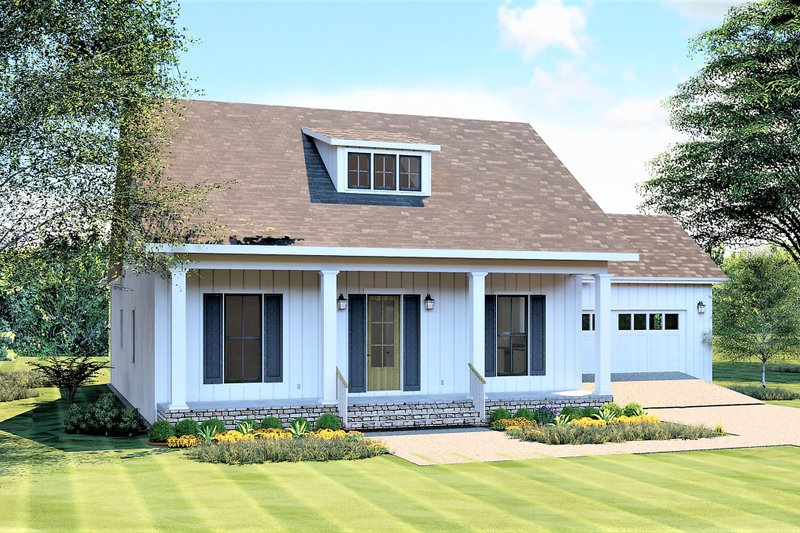 Craftsman Style House Plan - 3 Beds 2 Baths 1908 Sq/Ft Plan #44-235 Exterior - Front Elevation