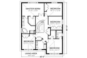Traditional Style House Plan - 5 Beds 4 Baths 3471 Sq/Ft Plan #414-107 Floor Plan - Upper Floor