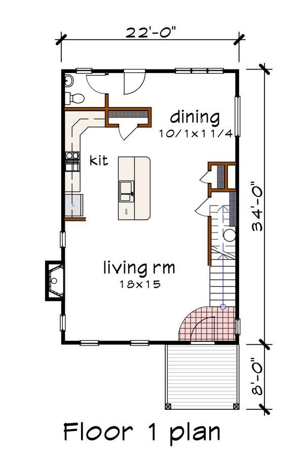 Modern Floor Plan - Main Floor Plan Plan #79-293