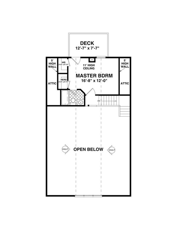 Cottage Floor Plan - Upper Floor Plan Plan #56-624