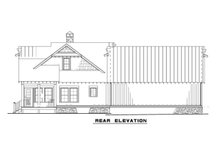 Country Exterior - Rear Elevation Plan #17-3406