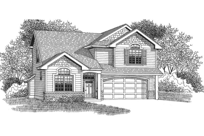 Craftsman Style House Plan - 4 Beds 2.5 Baths 2145 Sq/Ft Plan #53-507 Exterior - Front Elevation