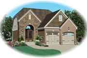 European Style House Plan - 3 Beds 2.5 Baths 1695 Sq/Ft Plan #81-13777 Exterior - Front Elevation