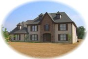 European Style House Plan - 4 Beds 3 Baths 3210 Sq/Ft Plan #81-1513 Exterior - Front Elevation