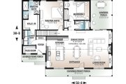 Modern Style House Plan - 2 Beds 2 Baths 1604 Sq/Ft Plan #23-2715 Floor Plan - Main Floor Plan