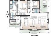 Modern Style House Plan - 2 Beds 2 Baths 1604 Sq/Ft Plan #23-2715 Floor Plan - Main Floor
