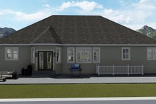 House Plan Design - Traditional Exterior - Rear Elevation Plan #1060-46