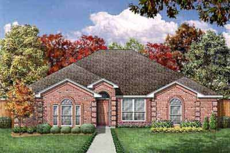 European Exterior - Front Elevation Plan #84-207 - Houseplans.com