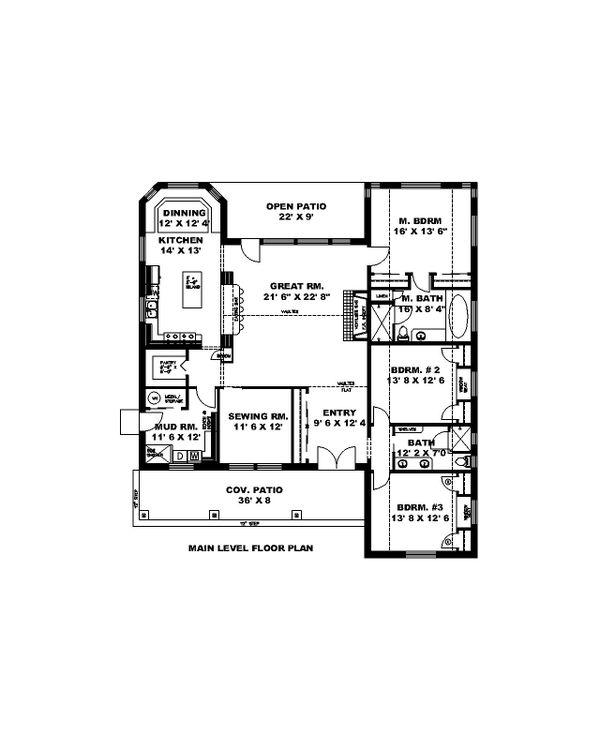 Dream House Plan - Ranch Floor Plan - Main Floor Plan #117-906