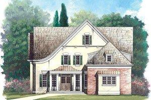 House Plan Design - European Exterior - Front Elevation Plan #119-256