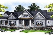 Traditional Style House Plan - 2 Beds 2 Baths 2551 Sq/Ft Plan #70-854 Exterior - Front Elevation