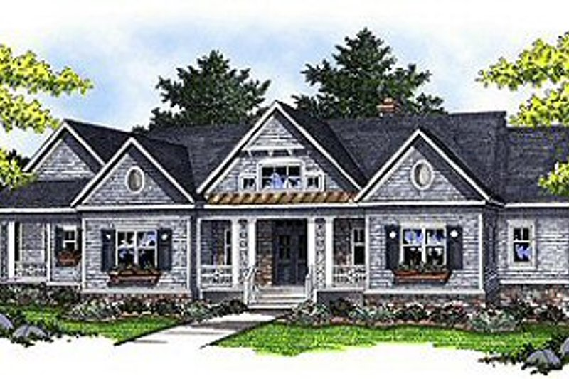 Architectural House Design - Traditional Exterior - Front Elevation Plan #70-854