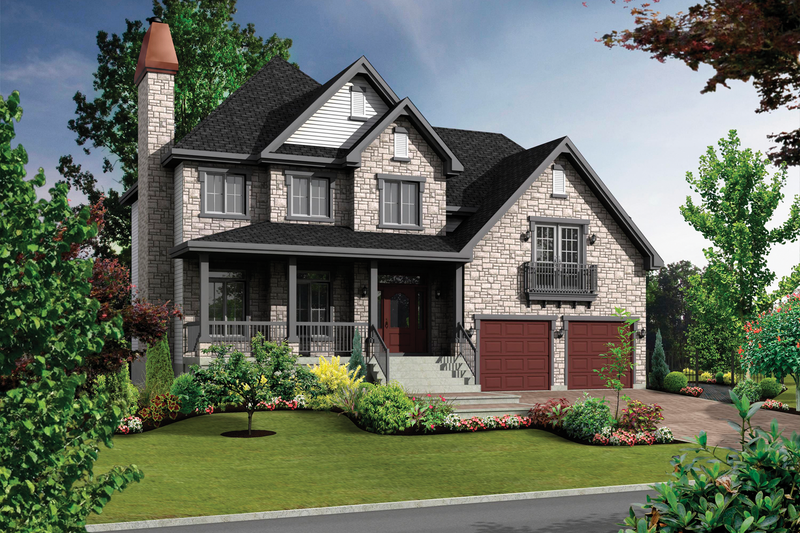 Traditional Style House Plan - 3 Beds 2 Baths 2362 Sq/Ft Plan #25-4496 Exterior - Front Elevation