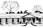 Ranch Style House Plan - 3 Beds 2 Baths 2053 Sq/Ft Plan #10-145 Exterior - Front Elevation