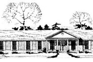 Ranch Exterior - Front Elevation Plan #10-145