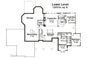 Country Style House Plan - 4 Beds 3.5 Baths 4756 Sq/Ft Plan #51-548 Floor Plan - Lower Floor Plan