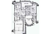 Colonial Style House Plan - 4 Beds 2 Baths 1917 Sq/Ft Plan #310-788 Floor Plan - Main Floor