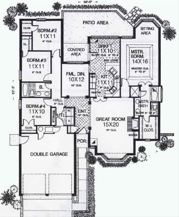 Colonial Floor Plan - Main Floor Plan #310-788