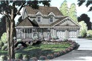 Victorian Style House Plan - 4 Beds 2.5 Baths 1823 Sq/Ft Plan #312-157 Exterior - Front Elevation