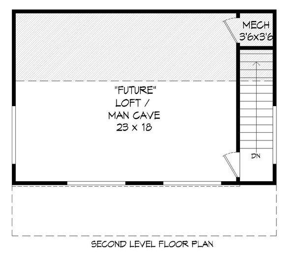 Country Floor Plan - Upper Floor Plan Plan #932-160