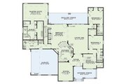 Country Style House Plan - 4 Beds 3 Baths 2624 Sq/Ft Plan #17-1101 Floor Plan - Main Floor Plan