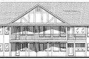 Traditional Style House Plan - 3 Beds 2 Baths 1668 Sq/Ft Plan #18-325 Exterior - Rear Elevation