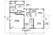 Country Style House Plan - 3 Beds 2.5 Baths 2426 Sq/Ft Plan #124-1228