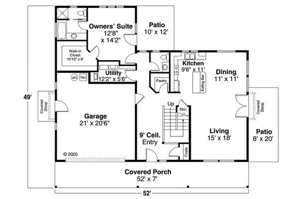 Architectural House Design - Country Floor Plan - Main Floor Plan #124-1228