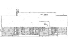 Country Exterior - Rear Elevation Plan #3-318