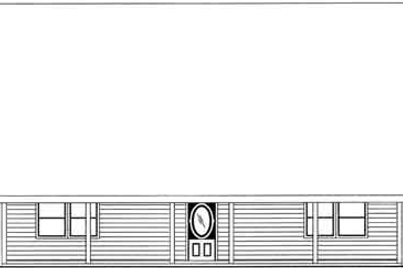 Traditional Exterior - Rear Elevation Plan #117-280 - Houseplans.com