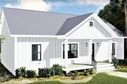 Farmhouse Style House Plan - 2 Beds 2 Baths 1311 Sq/Ft Plan #44-227 Exterior - Front Elevation