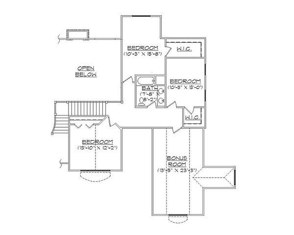 European Floor Plan - Upper Floor Plan Plan #5-395