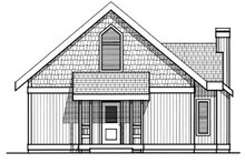 Modern Exterior - Rear Elevation Plan #93-201