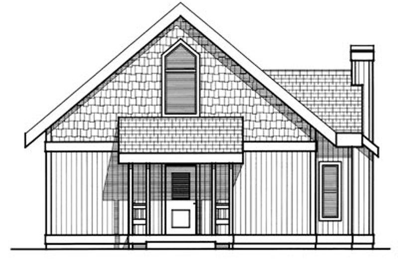 Modern Exterior - Rear Elevation Plan #93-201 - Houseplans.com