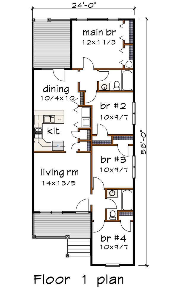 Dream House Plan - Cottage Floor Plan - Main Floor Plan #79-144