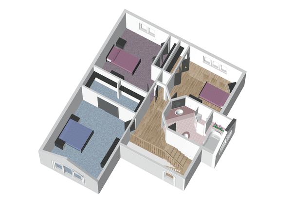 European Style House Plan - 3 Beds 1 Baths 1888 Sq/Ft Plan #25-4846 Floor Plan - Upper Floor Plan
