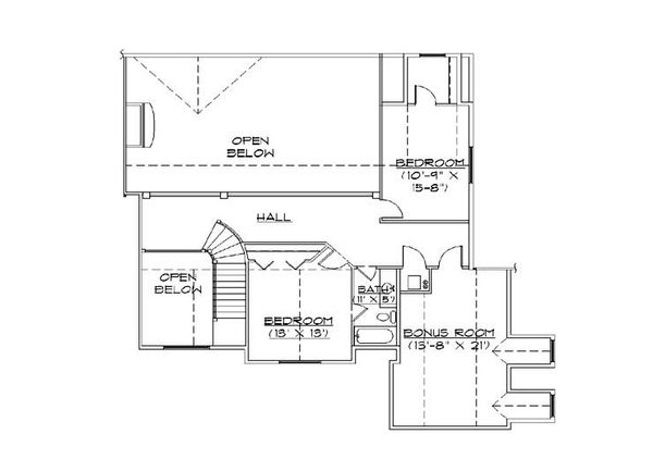 European Floor Plan - Upper Floor Plan Plan #5-424