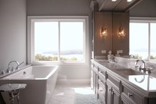 Southern Interior - Master Bathroom Plan #437-57