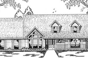 Country Exterior - Front Elevation Plan #42-123