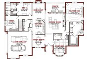 Traditional Style House Plan - 4 Beds 3 Baths 2695 Sq/Ft Plan #63-223 Floor Plan - Main Floor Plan
