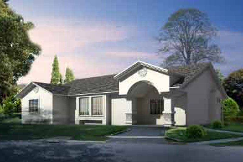 Traditional Style House Plan - 3 Beds 2 Baths 1568 Sq/Ft Plan #1-1294 Exterior - Front Elevation